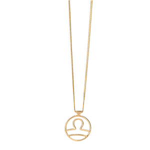 <p>Libra necklace available in yellow gold, rose gold and sterling silver.</p>
