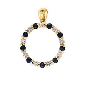 Natural Sapphire and Diamond Pendant, Total Diamond Weight 0.04ct
