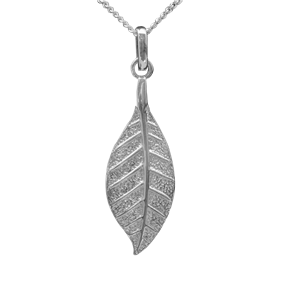 <p>Pohutukawa leaf pendant with 45cm chain and box</p>