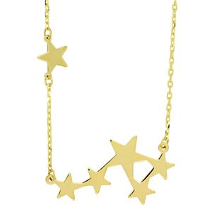 9ct Gold Star Burst Necklace