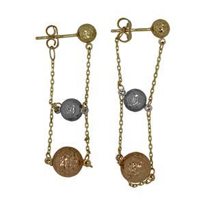 9 Carat Trigold Earrings
