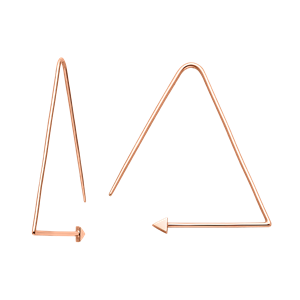 <p>Equilateral hoops available in yellow gold, rose gold and sterling silver</p>