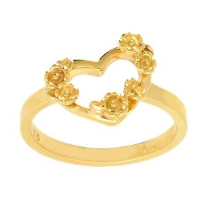 <p>Botanical Heart ring</p>