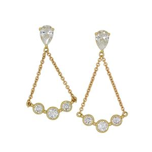 <p>9ct yellow gold Cubic Zirconia Earrings</p>