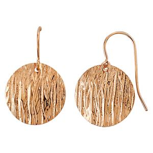 Bark Textured Disc Drop Earrings