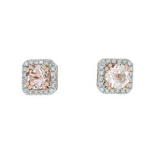 <p>9 carat rose gold with morganite and diamonds</p>