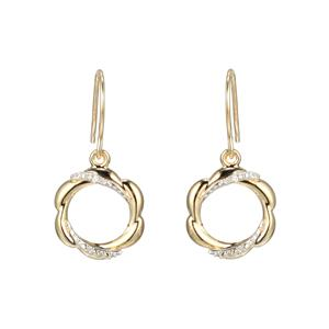 Diamond Drop Earrings on Shepherd Hooks