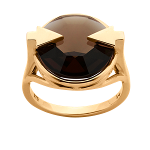 <p>Available in 9 carat yellow, rose gold and sterling silver with smoky quartz</p>