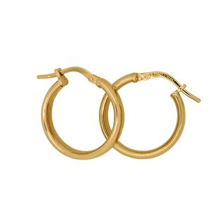 9 Carat Yellow Gold Sterling Silver Bonded Earrings