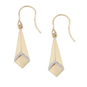 Geometric Shape Diamond Earrings