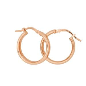 <p>9 Carat Rose Gold Sterling Silver Bonded Earrings</p>