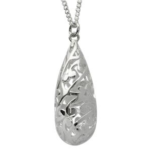 <p>Large Koru pendant with 50cm chan and box.</p>