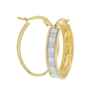 <p>9 Carat Yellow Gold and Silver Filled Rhodium plated earrings</p>