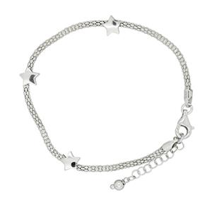 Sterling Silver, Rhodium plated Bassano Collection Bracelet. Made in Italy