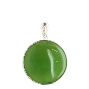 <p>Greenstone pendant available in sterling silver and 9 carat gold.</p>