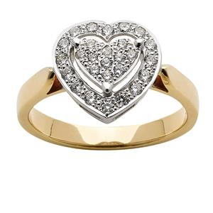 <p>Diamond Heart Ring</p>