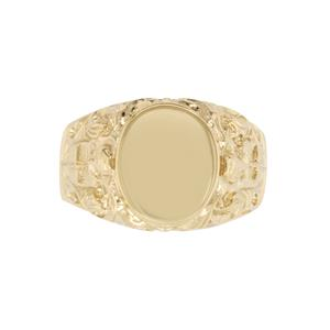 <p>Large Patterned Signet Ring</p>
