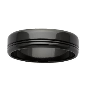 <p>Black zirconium band</p>