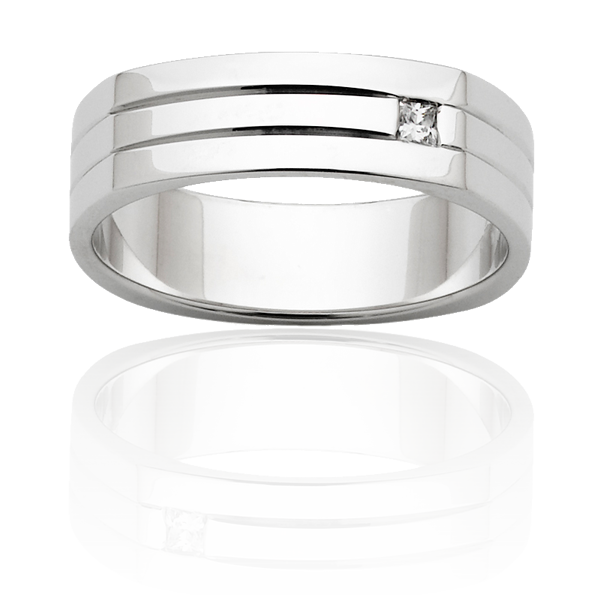 Men's Wedding Ring – AR582-6 D