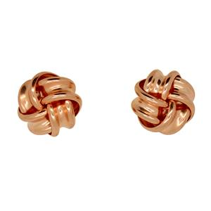 <p>9ct Rose Gold Knot Earrings</p>
