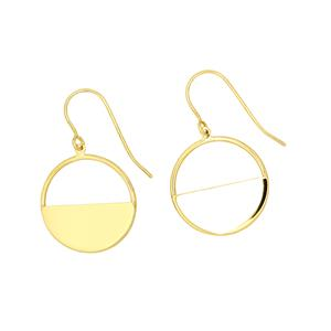 <p> 9ct Circle Geometry Earrings</p>