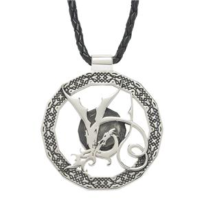 <p> The Hobbit - Smaug Dragon pendant. (Oxidised)</p>