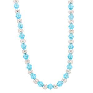 Bassano Italian Fashion - Blue Crystal Necklace