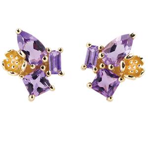 <p>Rock Garden Earrings - Amethyst&nbsp;</p>