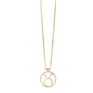 <p>Taurus necklace available in rose gold, yellow gold and sterling silver</p>