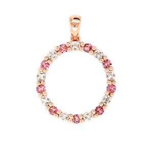 Pink Tourmaline and Diamond Pendant, Total Diamond Weight 0.04ct