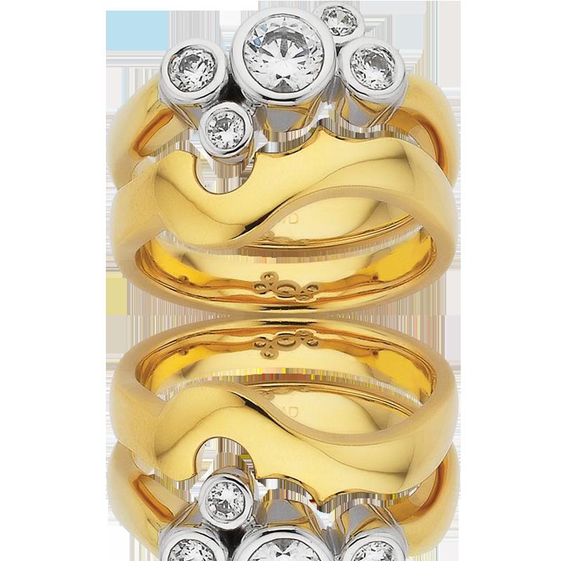 Diamond Engagement Ring – DD414W & DD415