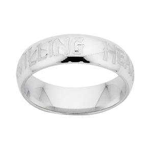 <p>The Hobbit Friendship Ring, engraved <em>A Willing Heart.</em></p>