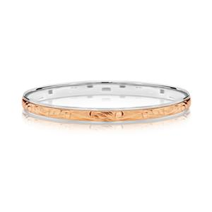 <p>9ct rose gold on sterling silver</p>