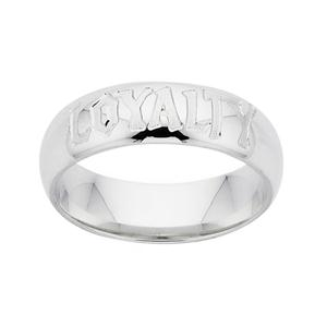 <p>The Hobbit Friendship Ring, engraved <em>Loyalty</em>. </p>