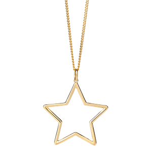 <p>Star outline pendant</p>