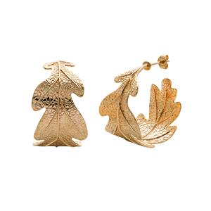 <p>Oak leaf earrings</p>