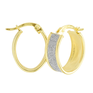 <p>9 Carat Yellow Gold Rhodium plated Earrings</p>