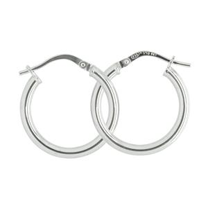 9 Carat White Gold Sterling Silver Earrings