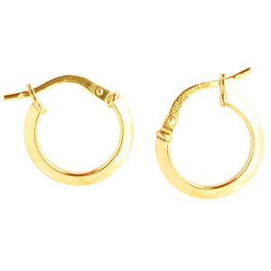 <p>9ct yellow gold Silver Filled Hoop Earrings </p>