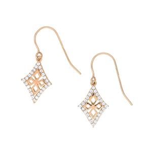 <p> 9 Carat Gold Earrings with Cubic Zirconia (Available in Rose or Yellow Gold)</p>