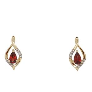 Garnet & Diamond Earrings. Matches IP1098