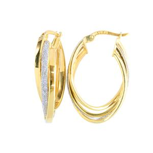 9 Carat Yellow Gold Silver Bonded Earrings