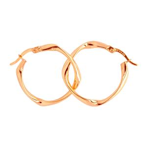 <p>9 Carat Rose Gold and Sterling Silver Earrings</p>