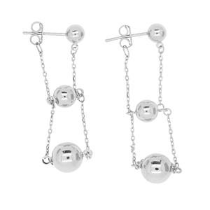 <p>9 Carat White Gold Earrings</p>