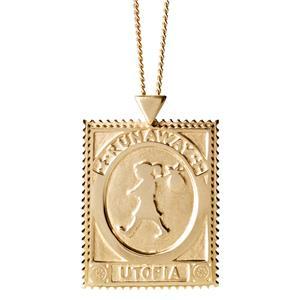 <p>Utopia stamp necklace</p>