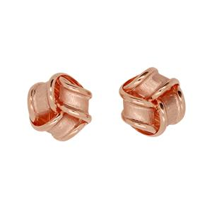 <p>9ct Rose Gold Knot studs</p>