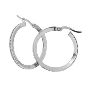 9 Carat White Gold and Sterling Silver Earrings