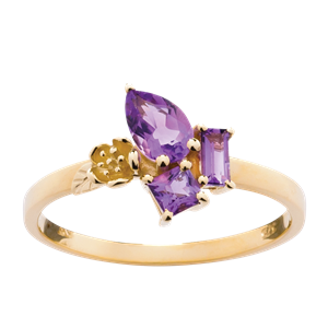 <p>Rock Garden Ring - Amethyst&nbsp;</p>