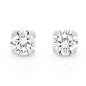 <p>White Gold Diamond Stud Earrings, Total Diamond Weight 0.20ct</p>