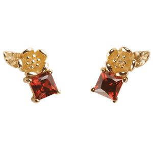 <p>&nbsp;Rock Garden Earrings - Garnet</p>
